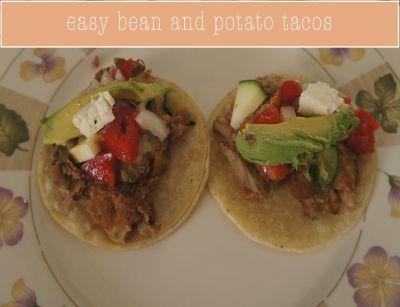 Easy bean & potato tacos #bean #potato #tacos #healthy #recipe