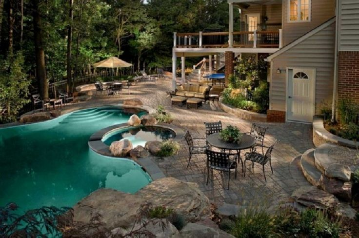 Most Beautiful Backyard Swimming Pools : TOP 10 Most beautiful backyards in USA  Outdoor Spaces  Pinterest
