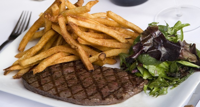 Les Halles steak frites so close to being in Paris!