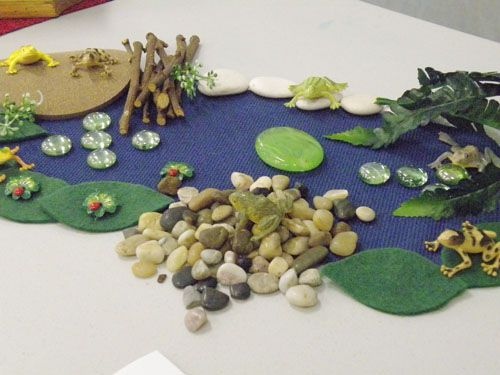 Frog pond imaginary play small world props pinterest for Small frog pond ideas