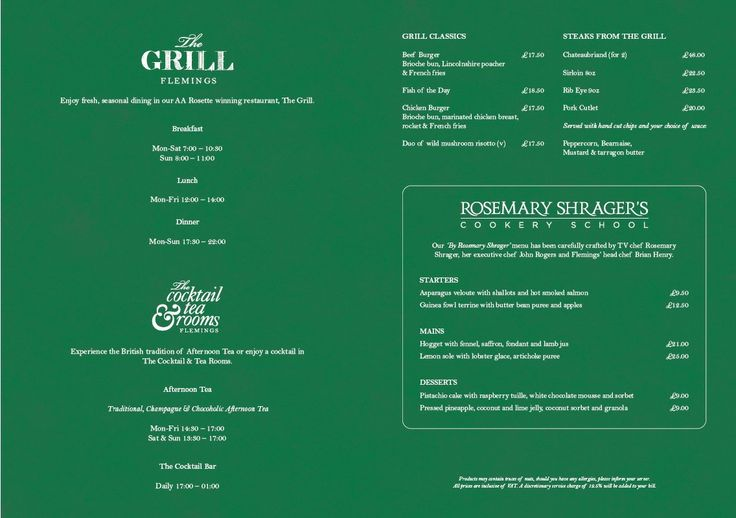 Rosemary Shrager Spring Menu at #TheGrill restaurant.  Our stylish London restaurant, The Grill, serves classic grill food in glamorous and intimate surroundings.  Savour robust, colourful flavours and the best seasonal ingredients in our AA Rosette winning London grill restaurant. Enjoy a relaxed ambience and friendly service for your lunch or dinner in Mayfair. Our menu changes regularly. We also have a Fleming Frog children's menu for under 12s. — at Flemings Mayfair Hotel.