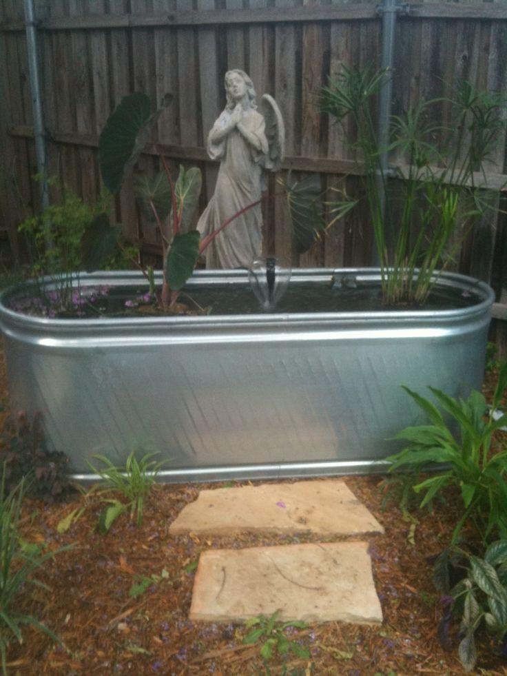 Trough turned goldfish pond things i love pinterest for Koi pool thornton