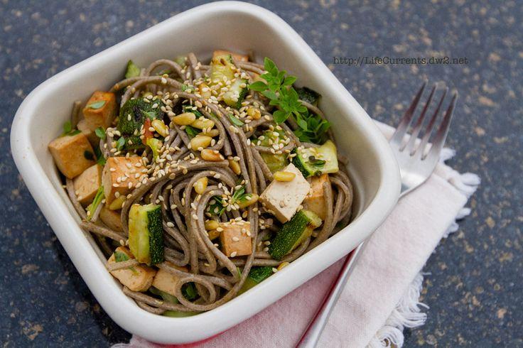 Soba Noodle Salad makes a great lunch! | pasta / spaghetti squash | P ...