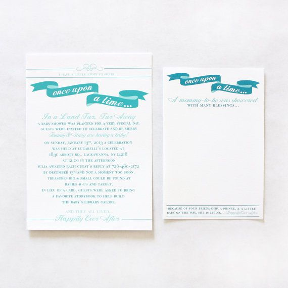 once upon a time baby shower invitation