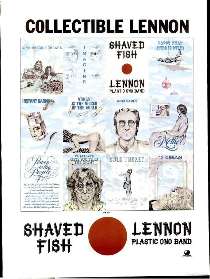 John lennon 39 shaved fish 39 1975 pinterest for John lennon shaved fish