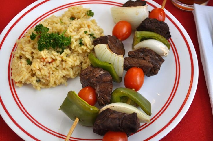 Steak Kabobs & easy Rice Pilaf. This meal was quick and easy. The ...