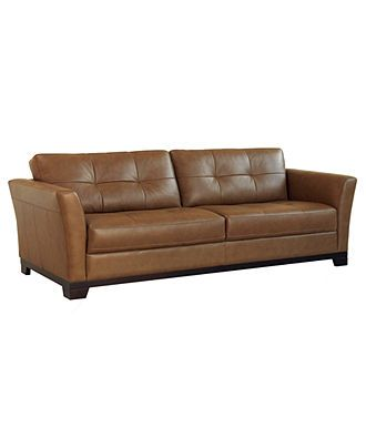 Martino Leather Sofa - Furniture - Macy's