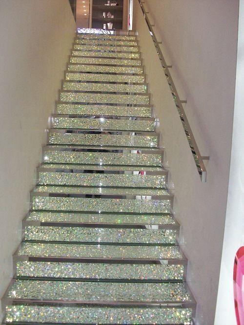 Glitter stairs?. Heck yeah!. (: