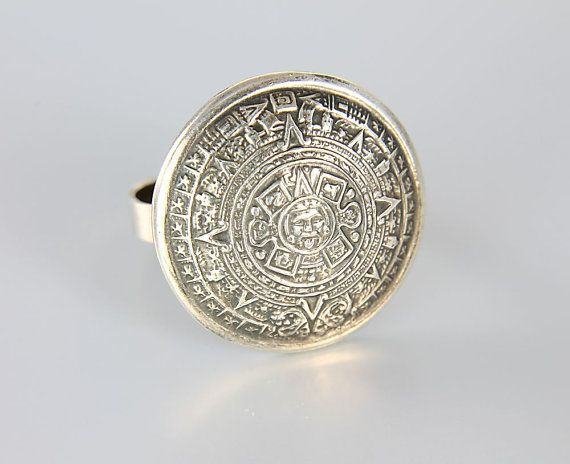 vintage taxco mexico tribal sterling silver ring