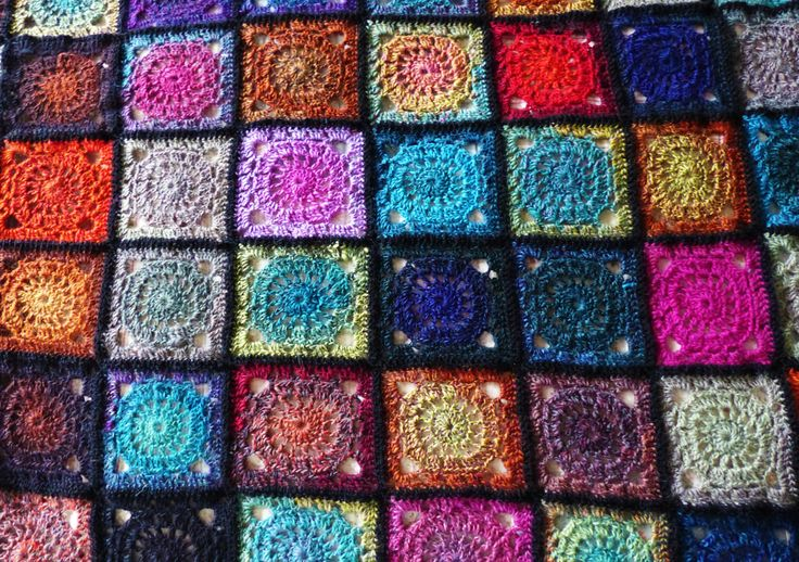 Crochet Patterns Using Variegated Yarn : Blanket made using variegated yarn Crochet Pinterest