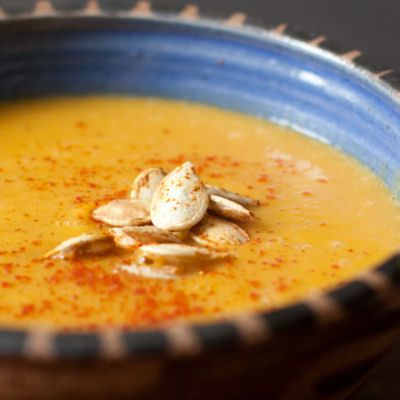 Thai-spiced Pumpkin Soup - I would probably just use olive oil on the ...