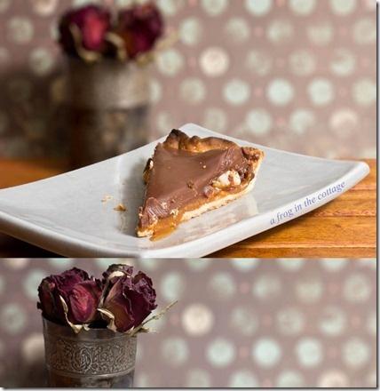milk chocolate & salted butter caramel crunchy tart