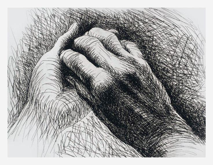 dibujo esbozo de las manos