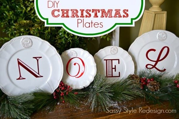 DIY Christmas plates   It's Beginning To Look A Lot Like Christmas ...