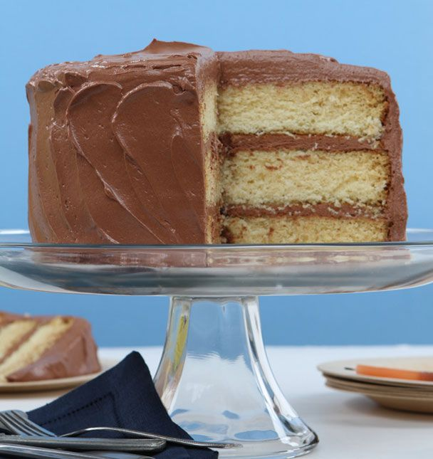 Butter cake with chocolate icing | Recipes | Pinterest