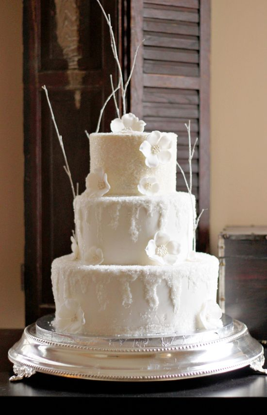 An Icy Wintery Wedding Cake