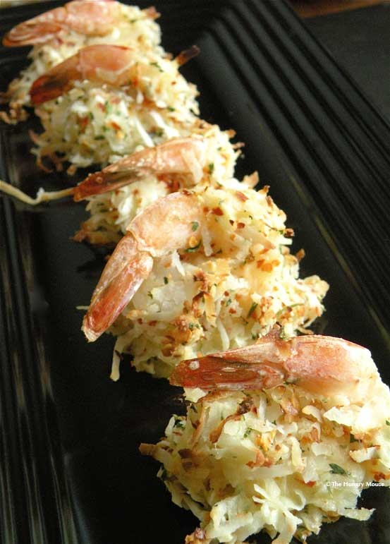Spicy Coconut Shrimp (large shrimp, flour, sweetened/ flaked coconut ...