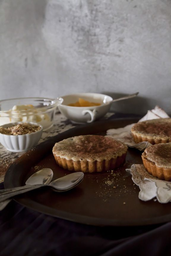 Chocolate Clementine Tart with almond-shortbread crust and honey cream ...