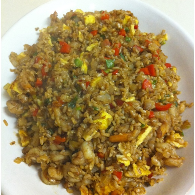Shrimp Fried Brown Rice | Home cooked meals | Pinterest