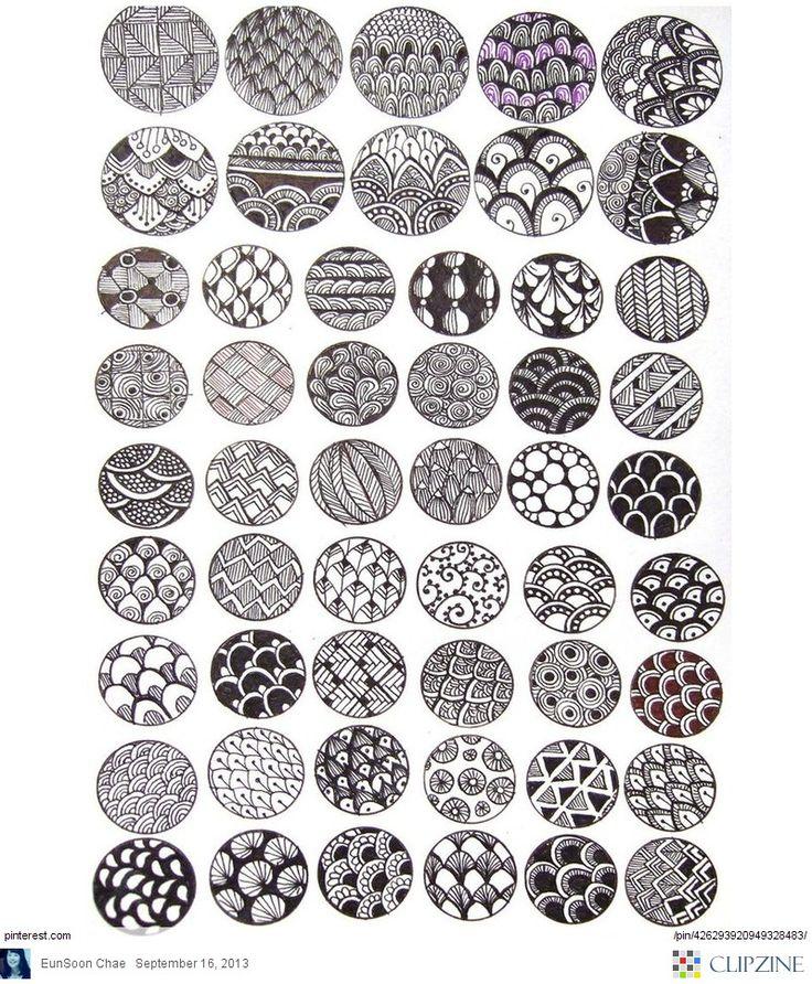Zentangle Patterns amp Ideas Crafts Galore Pinterest