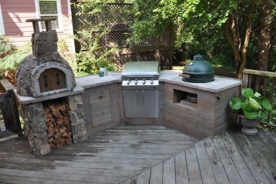 diy outdoor kitchen food