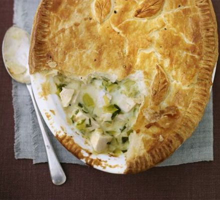 Deep-dish chicken & leek pie recipe - Recipes - BBC Good Food