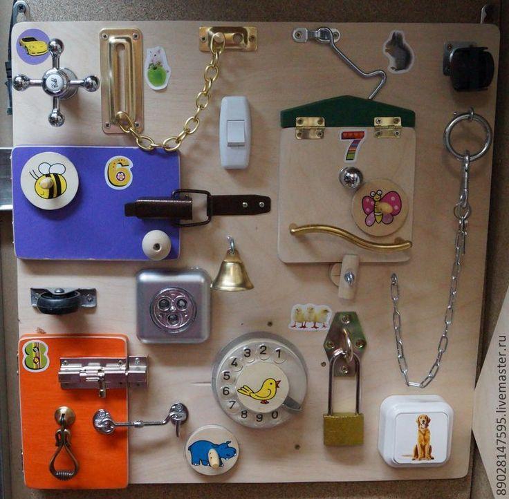 Доска с выключателями для детей своими руками 42