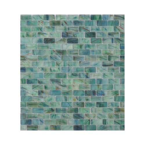 frosted peaceful sea brickjoint green glass tile by american olean 13
