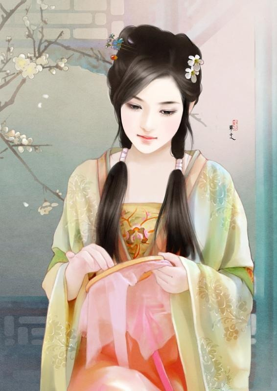 ballroom hairstyles : Hairstyle (Embroidering) (Chinese) Ancient Beauties Pinterest