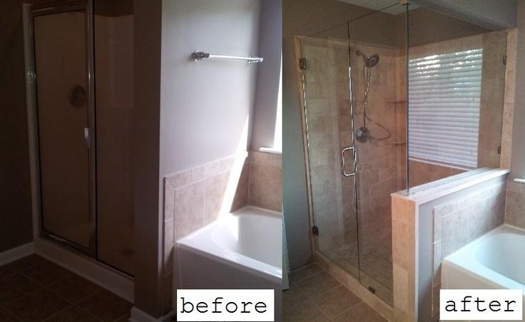Diy tile shower remodel bathroom pinterest - Bathroom remodel diy ...