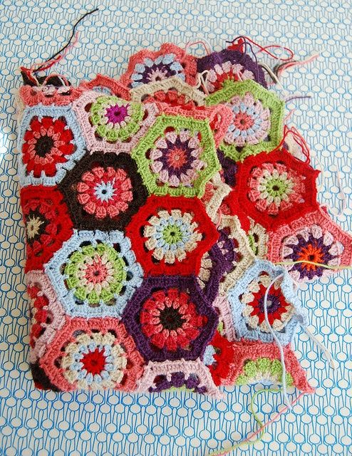 Crocheting Hexagons : Crochet Hexagons Knitting & Crohet Pinterest