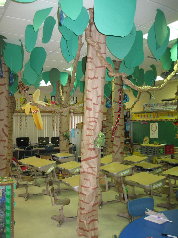 Rainforest classroom rainforest unit pinterest for Rainforest decorations