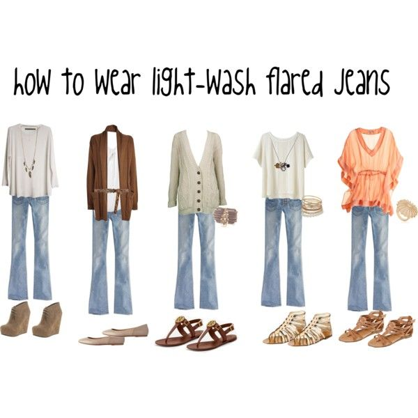 How to wear light-wash flared jeans | Outfit Inspiration | Pinterest