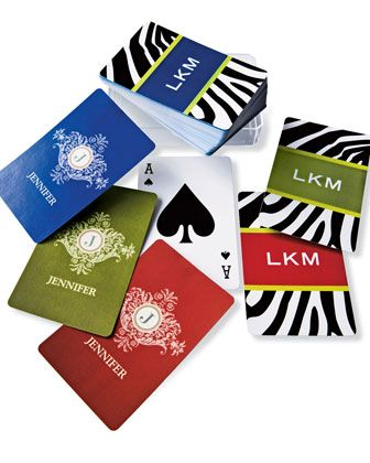 Personalized Playing Cards are a unique gift and fun for all!