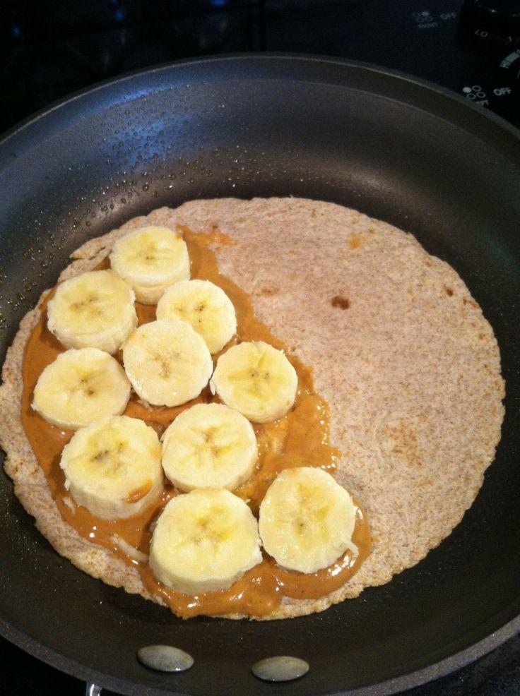 Grilled peanut butter banana quesadilla   Light Recipes & Foods   Pin ...