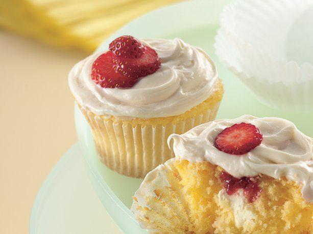 Strawberry-Cream Cheese Cupcakes