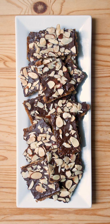 Chocolate-Covered Almond Matzo Toffee (AKA Chocolate Matzo Crack)