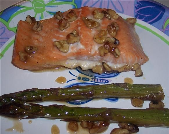 Honey Glazed Salmon With Asparagus Recipe - Food.com - with coconut ...