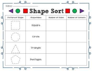 DIFFERENTIATED 2D SHAPE SORT - TeachersPayTeachers.com