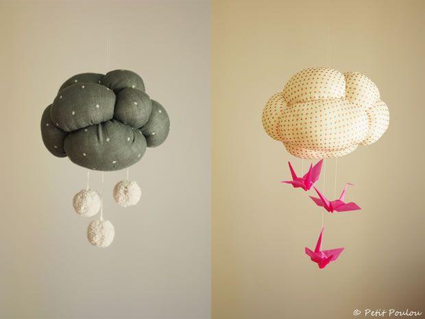 DIY mobile nuage * Petit Poulou  www.petitpoulou.com  #diy #petitpoulou