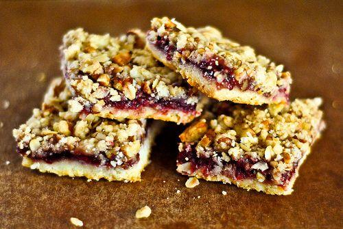 raspberry streusel bars   commonwealth cookery   Pinterest