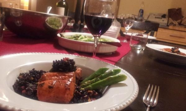 Chef Jo's Thai Black Rice Salad with Wild Salmon from our Jan/Feb 2012 ...