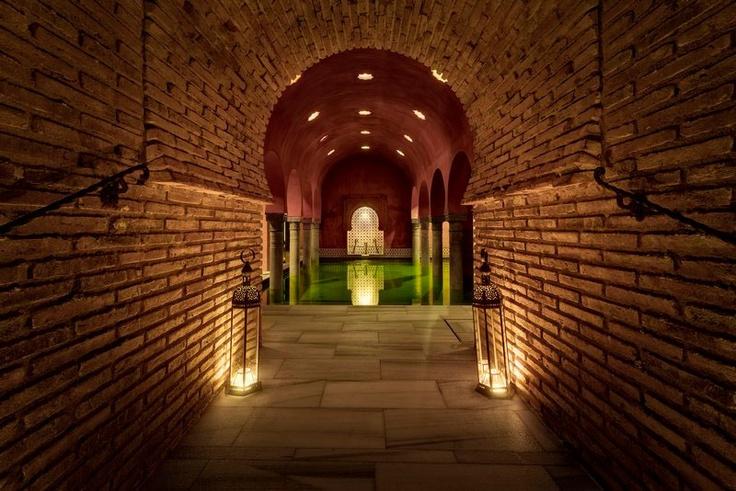 Baños Arabes Real Alhambra Granada:Sala templada, baños árabes Hamman #Granada