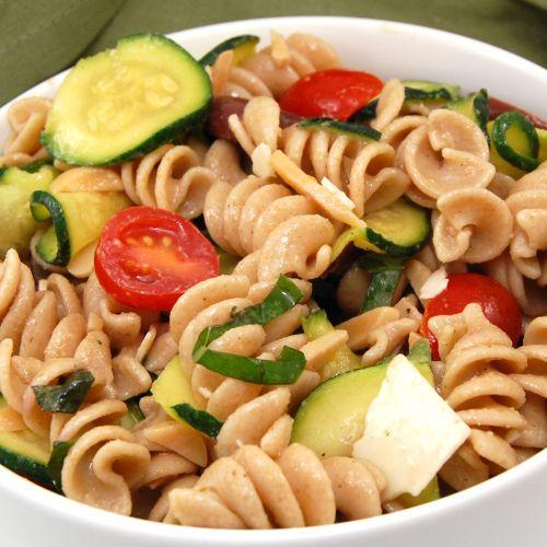 Zucchini and Almond Pasta Salad | Recipe