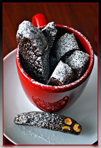Chocolate Pistachio Biscotti | Singer in Kitchen | Pinterest