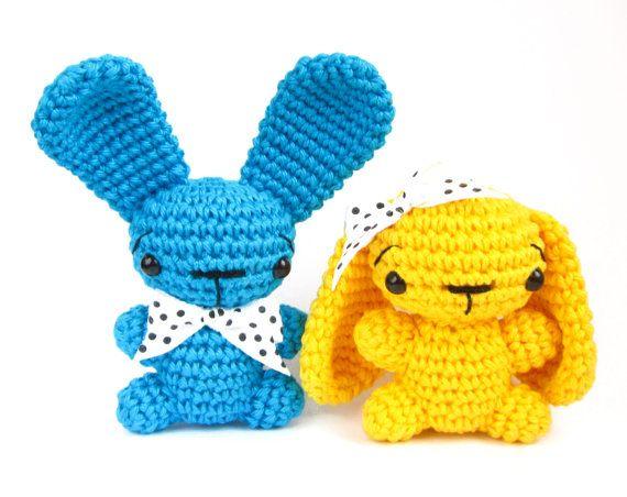 Amigurumi Floppy Ear Bunny : Tiny bunny PATTERN - Floppy or straight ears - Amigurumi ...