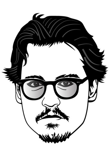 Coloring page Johnny Depp Famous