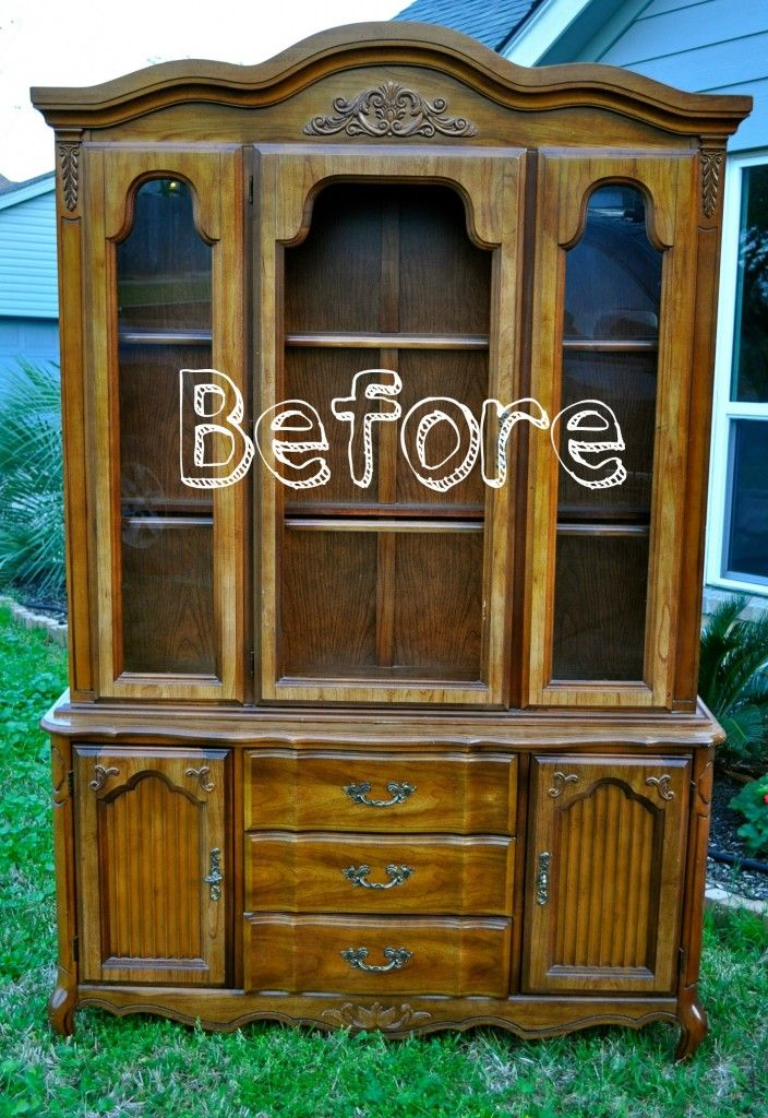 Refurbished China Cabinet Maybe A Different Color With A Light Pattern