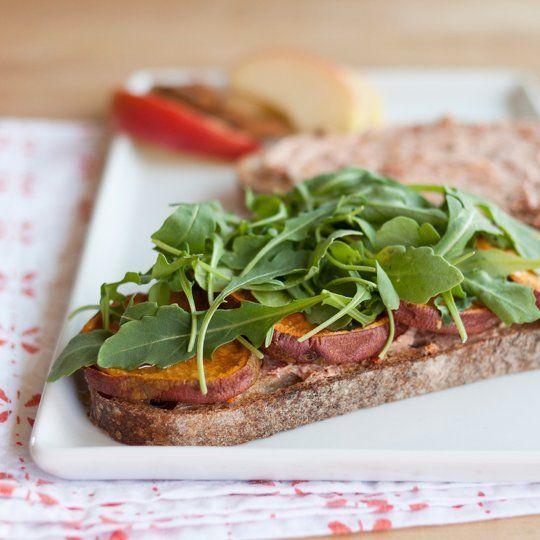 Recipe: Roasted Sweet Potato, Goat Cheese & Arugula Sandwiches ...