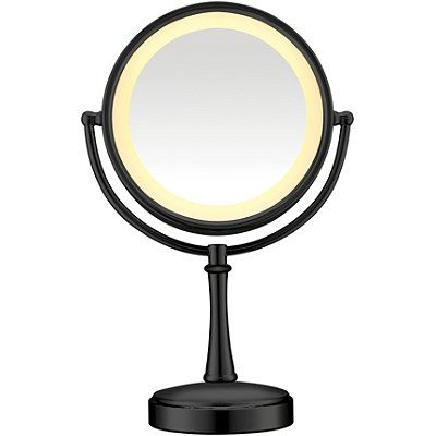 conair black touch control lighted makeup mirror cosmetics. Black Bedroom Furniture Sets. Home Design Ideas